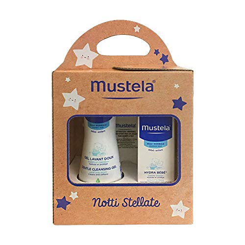 Mustela Notti Stellate Gel Detergente Delicato + Hydra Bébé Crema Viso + Lucina