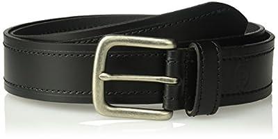 Dickies Men's Leather Classic Casual Belt, black emboss, Large (38-40)