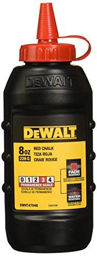 8 oz High-Grade Red Marking Chalk with Oval Shaped Bottle - Dewalt DWHT47048L