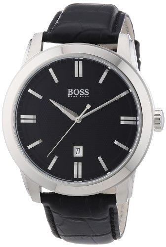 Hugo Boss 1512767 - Reloj analógico de Cuarzo para Hombre con Correa de Piel, Color Negro