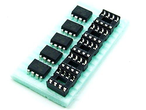 POPESQ® - 5 STK. / pcs. x ATTINY85-20PU mit/with 5 x DIP8 MCU ATMEL AVR Arduino...