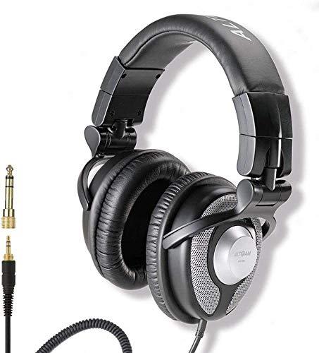FHW Hoofdtelefoons, DJ-monitor HIFI multimedia muziek studio subwoofer computer notebook headset Wired stereo spel gaming headset (zwart) koptelefoon
