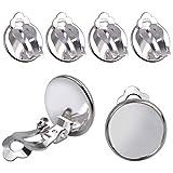 Hendevl Ohrringkonverter zum Anklemmen, 12 mm, flach, rund, für selbstgemachte Ohrringe, 20 Stück