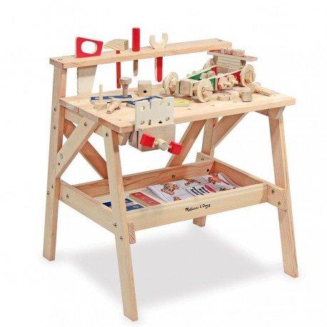 Melissa and doug - Grand établi Jouet en bois massif Enfants 3 ans + 61 pièces de constructions