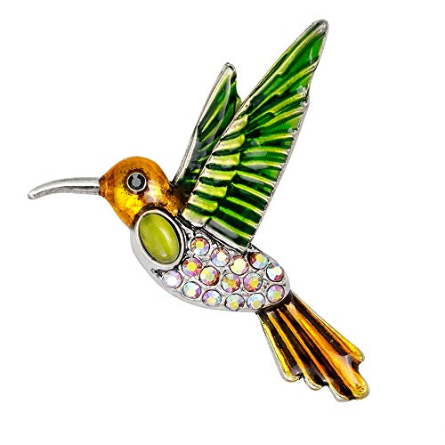 YAZILIND Moda pájaro Animal Broche Pins Mujeres Breastpin Ramillete niñas joyería Regalo (Color 1)