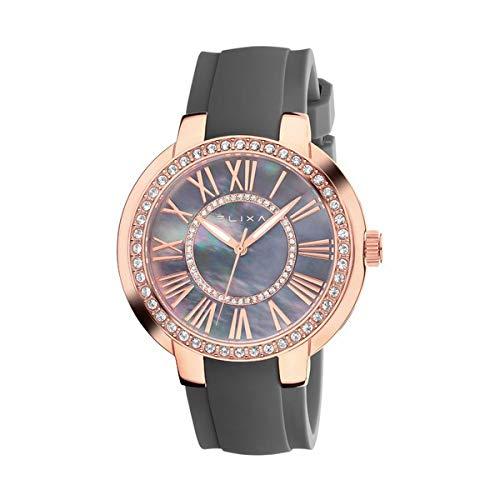 Elixa Reloj Analog-Digital para Womens de Automatic con Correa en Cloth S0318784