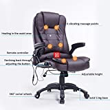 Home Office Computer Desk Massage Chair Executive Ergonomic Heated Vibrating (Brown)
