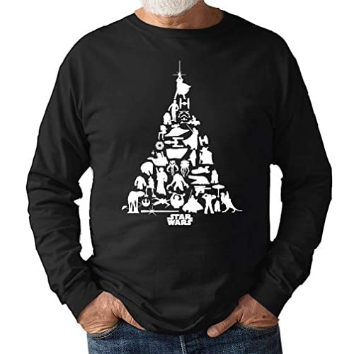 Star Wars Tree Christmas Jumper Sweat Shirt Gift