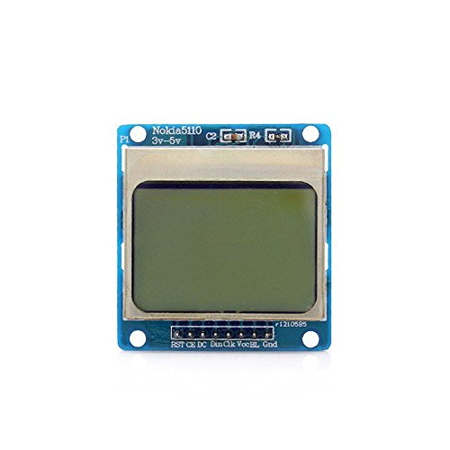 "ADRAxX 1.6"" Nokia 5110 LCD Module with Blue Backlit for Arduino"