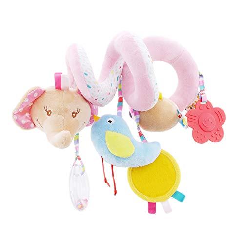 Yeucan Cama de Cuna de Gusano para bebé Infantil Alrededor de Campana de sonajero, Cochecito de Animales de Dibujos Animados, Juguetes para niños,Rosado,Los 25 * 14cm