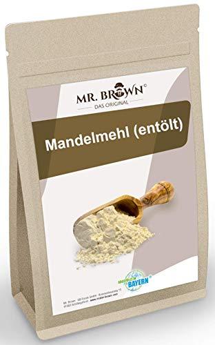Mr.Brown Mandelmehl entölt 1kg | vegan | weiß, Mandel in Deutschland vermahlen | Mandelprotein | glutenfrei, für keto, zum Low Backen Carb
