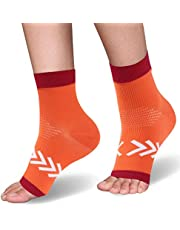 Compression Socks Ankle Support, Womens Girls Compression Foot Sleeves Ankle Brace Plantar Fasciitis Socks for Pain Relief, Edema, Achilles Tendonitis, Swelling 1 Pair