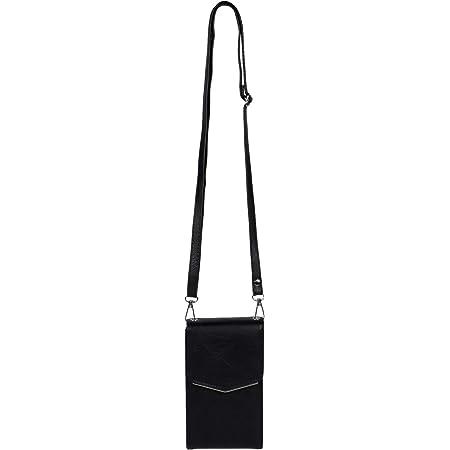 styleBREAKER Damen Mini Bag Umhängetasche, mit Metall Detail am Umschlag, Handytasche, Schultertasche, Handtasche 02012353