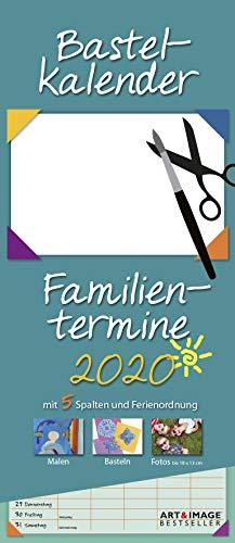 Bastelkalender 2020 A&I Familienplaner - 19,5x45cm - Wandkalender - Terminplaner