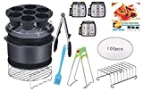 CAXXA 15 PCS 8 Inch XL Air Fryer Accessories, Deep Fryer Accessories with Recipe Cookbook Compatible with...