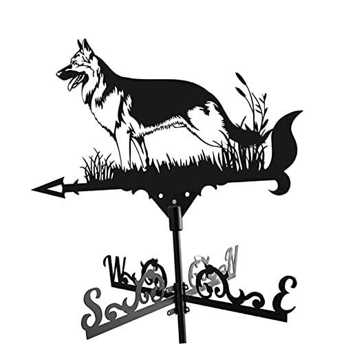 Nobranded Wetterfahne Hund Form Wetterfahne Retro Bauernhof Szene Garten Stake Wetterfahne Terrasse Yard Dekoration für Ihr Haus, Garage, kupolofen, Scheune