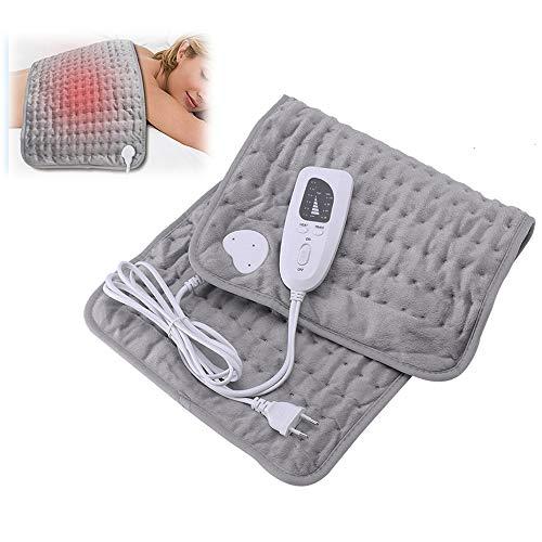 HITECHLIFE Almohadilla térmica eléctrica, almohadillas térmicas suaves grandes para aliviar el dolor...