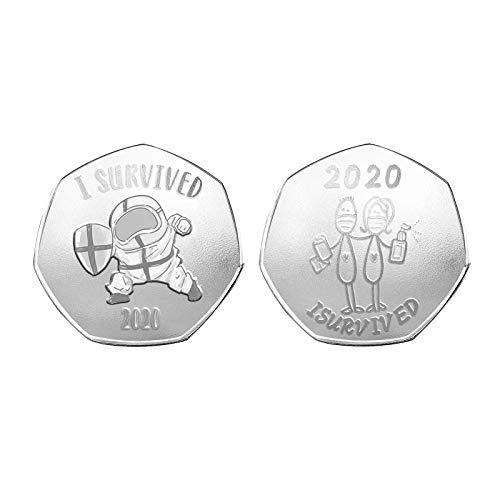 Moneda conmemorativa Watopi 1/2/5 PC 2020 Supervivors 2020 Memorable Fighter Moneda decorativa para el hogar para día festivo