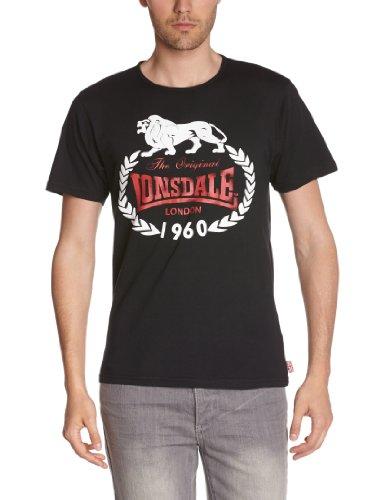 Lonsdale Orginal 1960 T-Shirt, Noir (Schwarz), X-Large (Taille Fabricant: XL) Homme