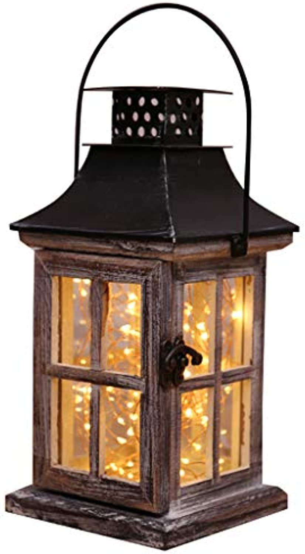 Y-only Retro massivholz Lampe nachttisch nachtlicht led, schreibtischlampe für Wohnzimmer Schlafzimmer dekor Dekoration kreative bar,A