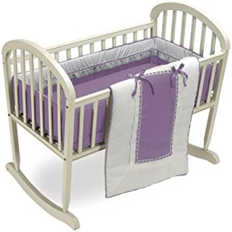 BabyDoll Royal Cradle Bedding Set, Lavender