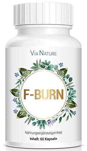 PowerSupps Via Nature F-Burn Kapseln - Stoffwechsel, Diät und Fitness - hochdosiert für Männer und Frauen