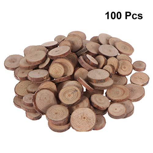 DOITOOL 100 piezas rodajas madera circulos madera