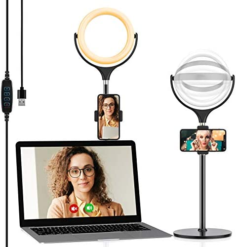 Selfie Ring Light with Adjustable Phone Holder Stable Disc Base Yoozon Video Conference Lighting product image