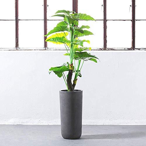 LY88 Maceta Grande de Boca Redonda de Arco Alto Maceta Decorativa Creativa para el hogar Maceta Moderna Maceta de Flores para Patio Exterior Paisaje Plantas Verdes Árboles (Tamaño: 82 * 41 cm)