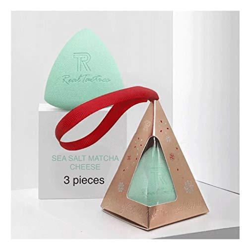 YQ 3 Pièces de Maquillage et des œufs de beauté sans Poudre, Super Doux et délicat Éponge (Color : Sea Salt Matcha 3 pcs(Send Storage a))