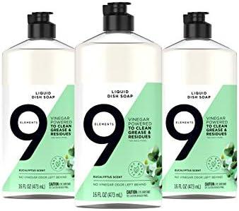 3-Pack 9 Elements 16-oz. Liquid Dish Soap