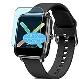 Vaxson Paquete de 3 protectores de pantalla anti luz azul, compatible con reloj inteligente Gandley KUMI KU1s KU1 de 1,5 pulgadas, película de bloqueo de luz azul de TPU [no vidrio templado]