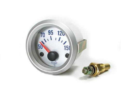 Carparts-Online 11348 Öltemperatur Anzeige Zusatz Instrument 52mm silber
