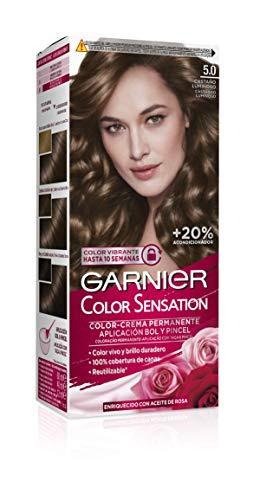 Garnier Color Sensation - Tinte Permanente Castaño Luminoso 5.0, disponible en más de 20 tonos