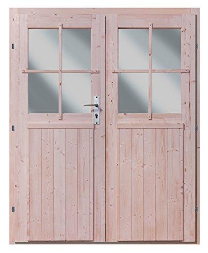 Karibu Doppelflügeltür für 28 mm natur
