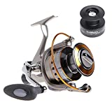 Yoshikawa Carp Sea Fishing Spinning Reel Baitrunner Aluminum Spool Handle 11 Ball Bearings