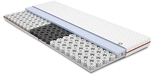 OctaSleep Smart Topper 90x200 – kühlende Matratzenauflage mit Federn aus Memory Foam – 3 Zonen für ideale Unterstützung – atmungsaktiver Topper