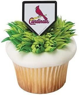 MLB St Louis Cardinals Cupcake Rings - 24 pcs