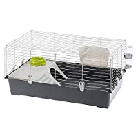 Cage for adult Rabbits Complete with accessories Easy to clean Knock down construction 95 cm x 57cm x 46cm
