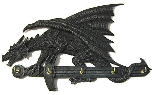Drachen Schluesselbrett Gothic 5 Haken Schlüsselhaken ca. 28cm
