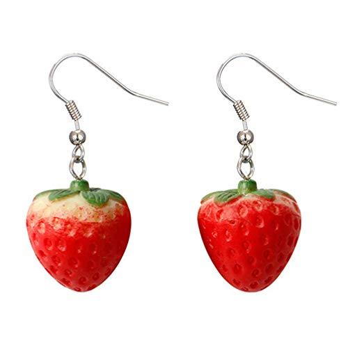 Simulation Red Strawberry Dangle Earring for Women Accessoires de bijoux DIY Nouveau publié Écologique et pratique