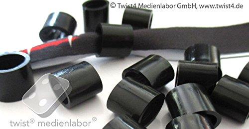 Plastik – Hülsen/Plomben für gewebte/bedruckte Stoff – Einlassbänder/Eintrittsbänder - 10 Stück