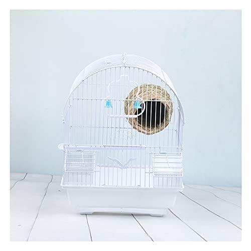 JKXWX Gabbia per Uccelli Pappagallo di Gabbia per Uccelli Esterno Parrot Starling Thrush Mynah Acacia Bird Cage Bird Nest Grande Gabbia per Uccelli Gabbia Voliera (Color : White, Size : C)
