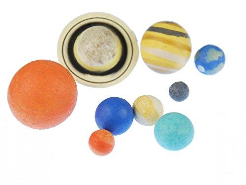 Miniblings 9X Planeten Figuren Aufstellfiguren Gummi Planet Sonnensystem Erde