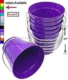 Italia 6-Pack Metal Bucket 1.5 Quart Color Purple Size 5.6 X 6' 6-Pack