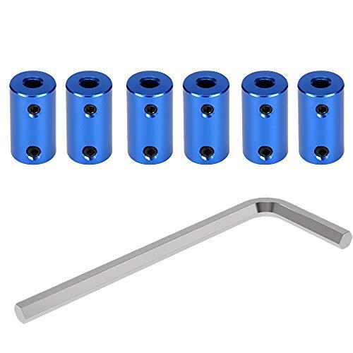 Gwolf 3D Drucker Kupplung, 6 Stück Wellenkupplung Flexible Kupplung 5mm bis 8mm kupplungen Schrittmotor-Koppler mit 2mm Inbusschlüssel Aluminiumlegierung Gelenkverbinder für Reprap 3D Drucker Blau