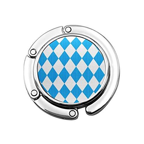 Folding Handbag Hanger Purse Hook,Easy to You See Tiles Oktoberfest and Bavarian Flag Pattern High Res Tiff