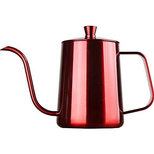 PN-Braes Tetera de cafe Acero Inoxidable de cafe del Goteo Hervidor Delgada Mano del hogar de la Boca al RAS de cafe del pote pequeno Conjunto Utensilios for el hogar para el Servicio de cafe