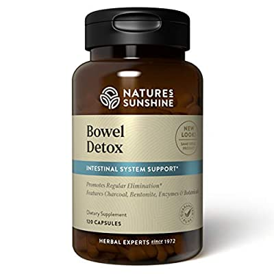 Nature's Sunshine Bowel Detox, 120 Capsules   Colon Cleanse Detox Supplement to Promote Regular Elimination and Cleansing of the Digestive System