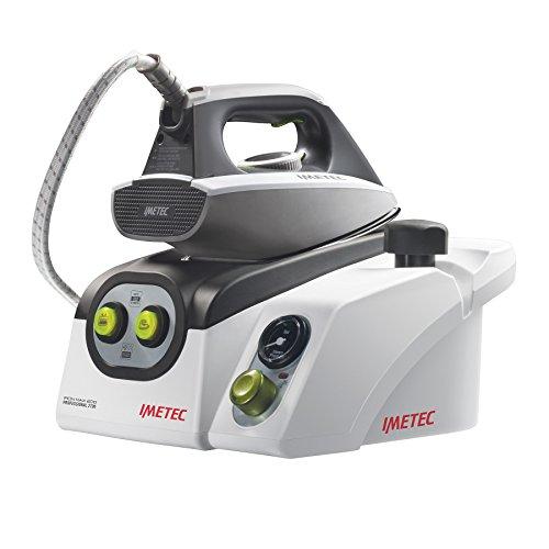 Imetec Iron Max Eco Professional 2700 Ferro da Stiro con Caldaia in Pressione, Piastra in Acciaio Inossiadabile, Generatore di Vapore, Manometro per il Controllo della Pressione